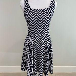 Soprano herringbone navy and white dress